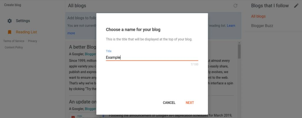 Choose a good title for your blog (start a free blog steps)