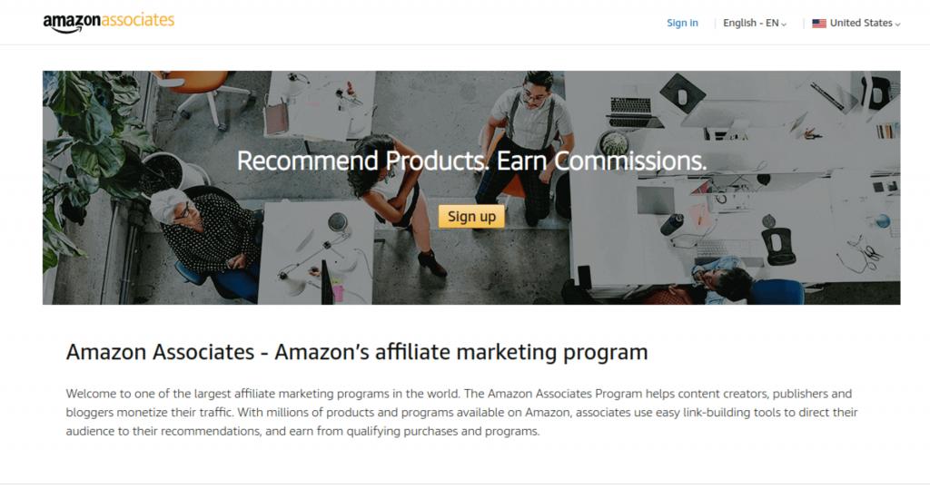 amazon affiliate program.