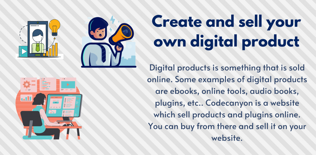 Create a digital product and make money from website traffic
