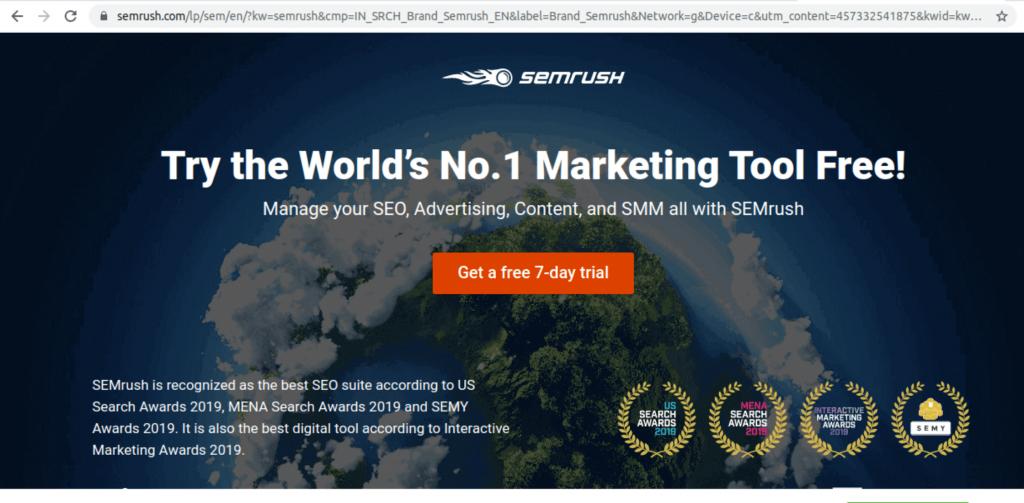 Semrush - best keyword research tool.
