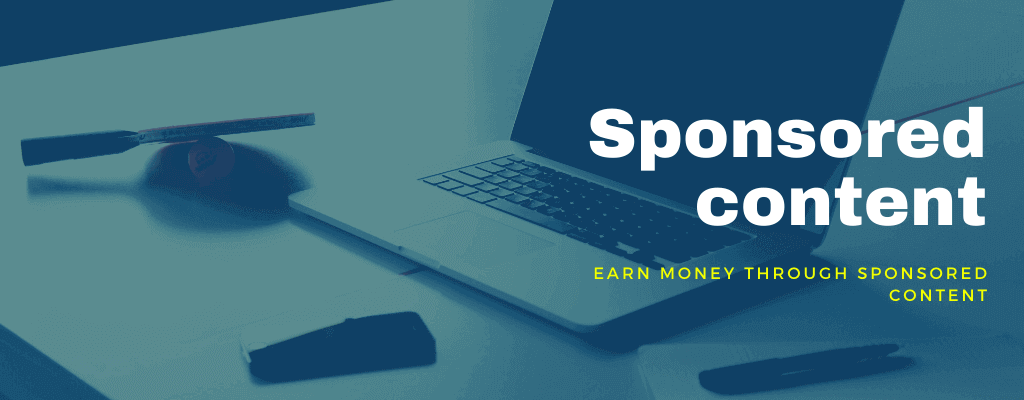 Make money from website traffic by writing sponsored posts