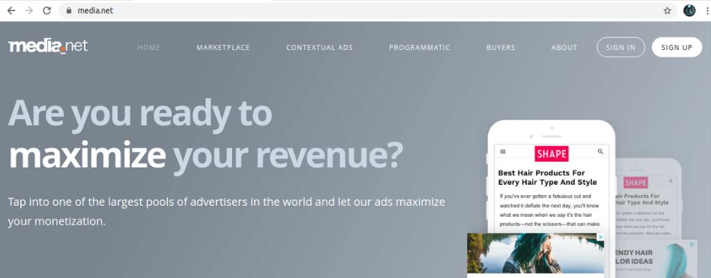 media.net adsense alternative