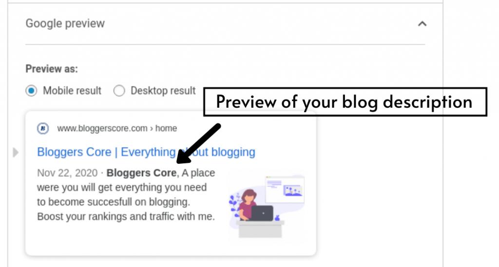 How to write blog description ? step 2