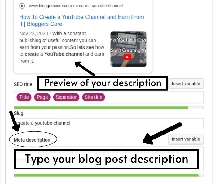 How to write post description ? step - 2
