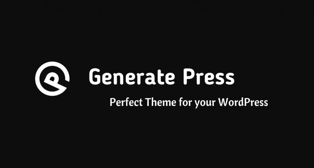 Generate Press - Light theme for loading WordPress faster