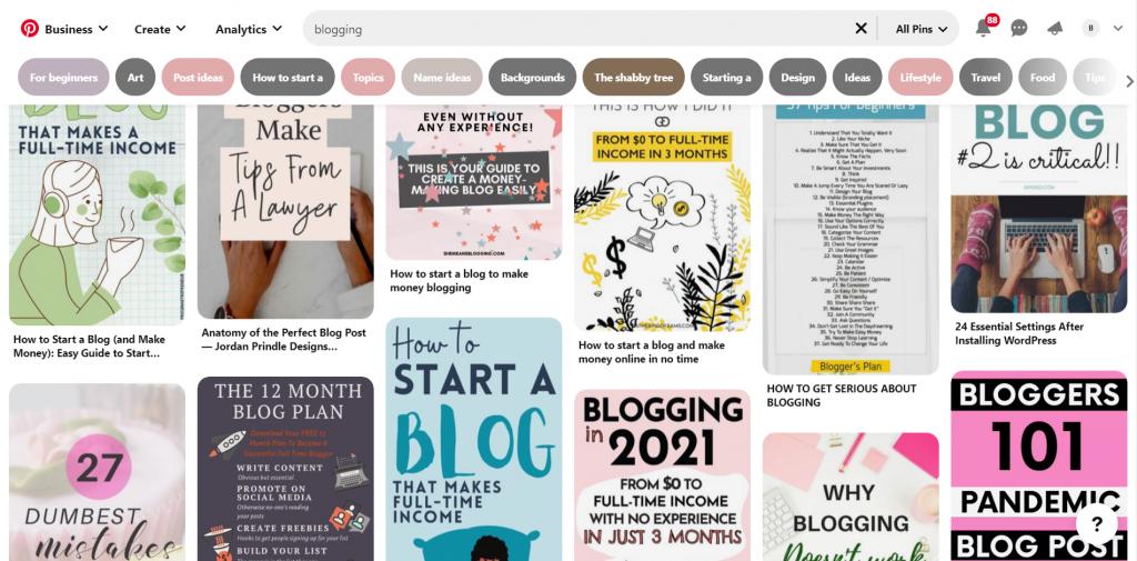Use Pinterest for blog promotion