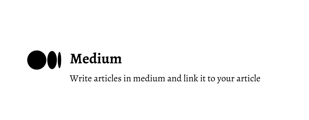 Write articles on medium for backlink